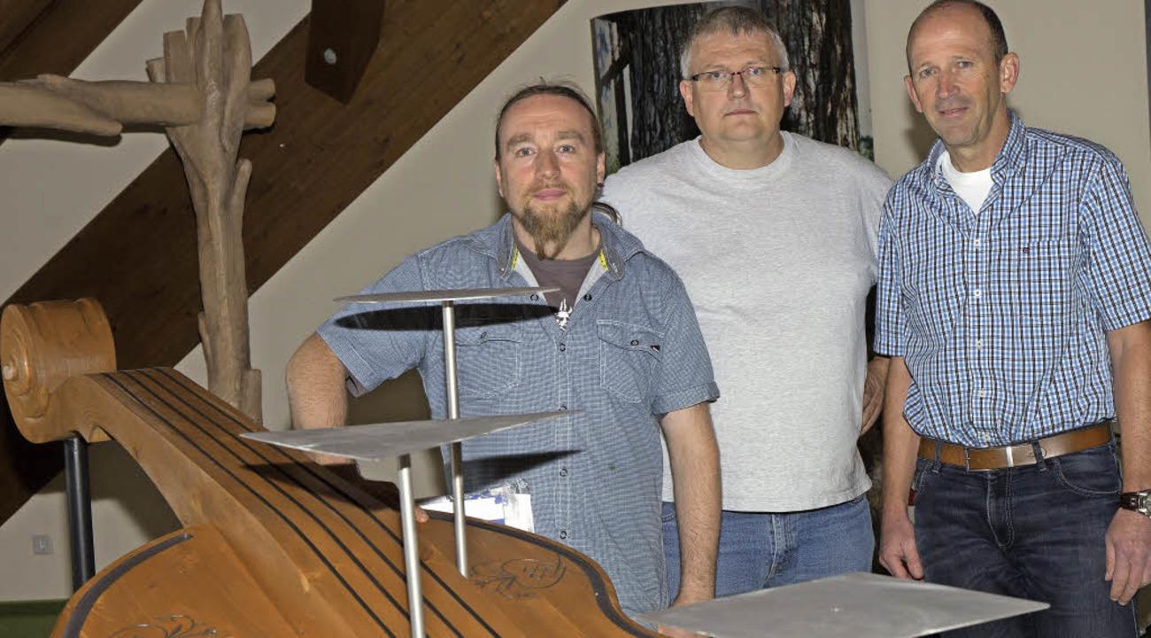 Die verantwortlichen Macher (von links...und Bürgermeister Christian Behringer.  | Foto: Wilfried Dieckmann