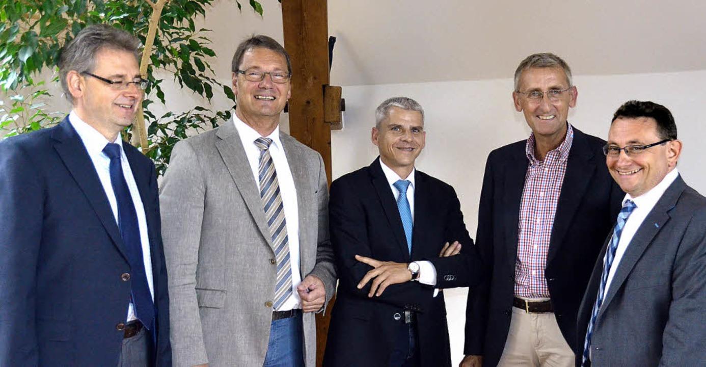 Alle haben gut lachen, sie sind sich e...app, Armin Schuster und Ulrich Lange.   | Foto: Babeck-Reinsch (2)