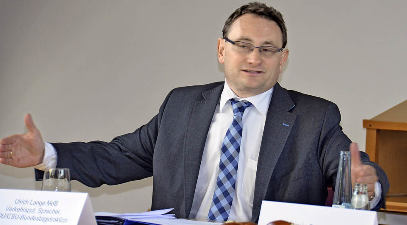 Ulrich Lange, verkehrspolitischer Spre...f die Kompetenz der Bürgerinitiativen.  | Foto: Gabriele Babeck-Reinsch