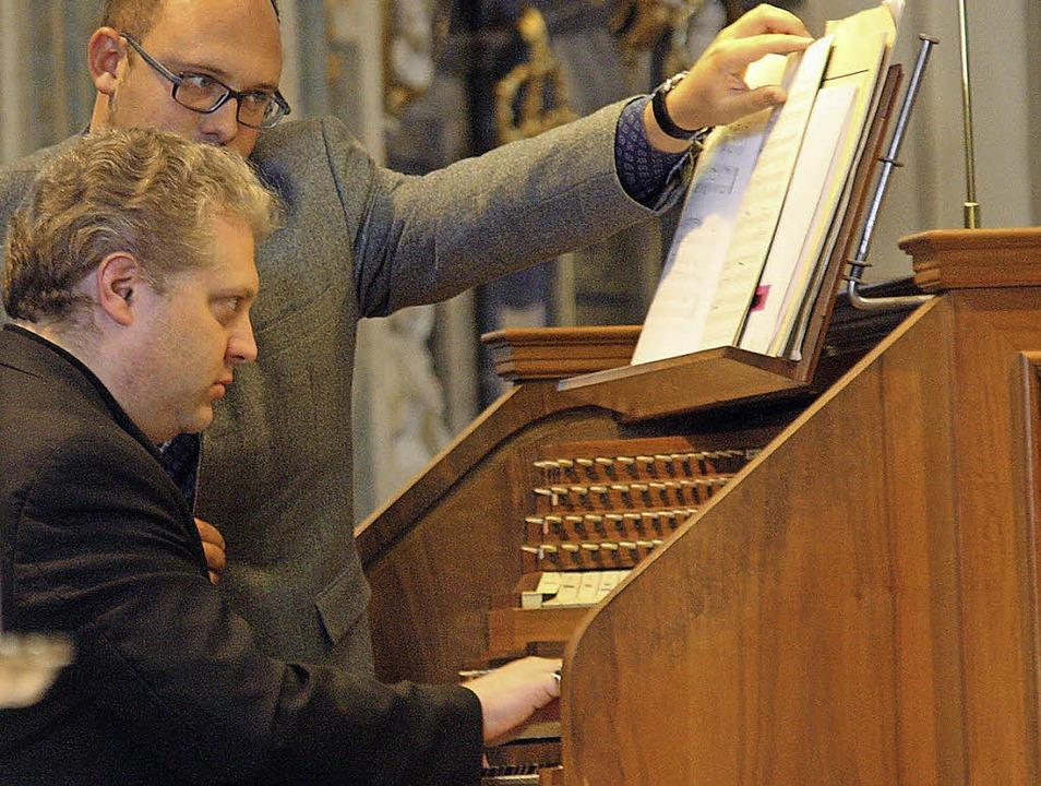 <Text>Der amerikanische Konzertorganis...rant der Orgel,  Eduard Wagner.</Text>  | Foto: Hans Jürgen Kugler