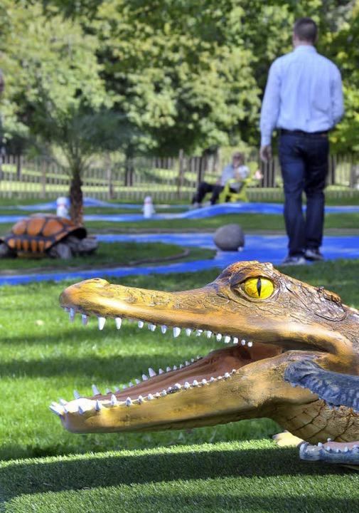 Schluckt Bälle: das Krokodil  | Foto: Michael Bamberger