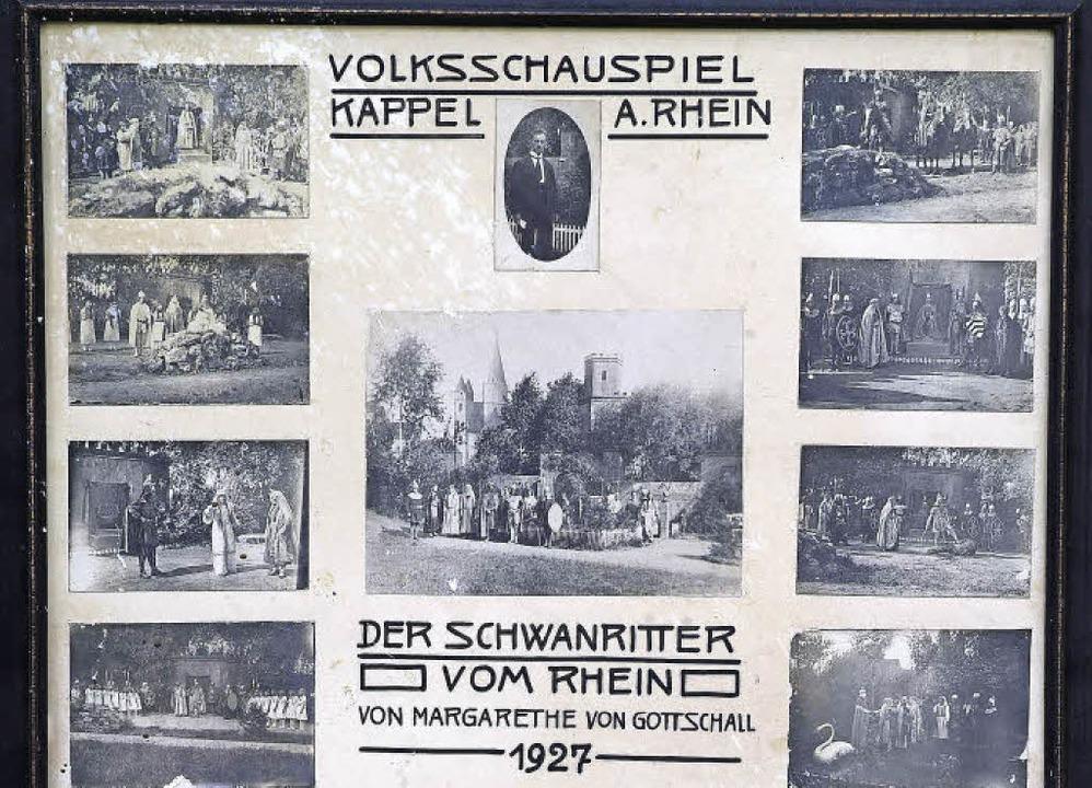 Bilder einer Aufführung: Schwanritter ...lin beim Gedenkstein im Theaterwäldeli    Foto: Privat