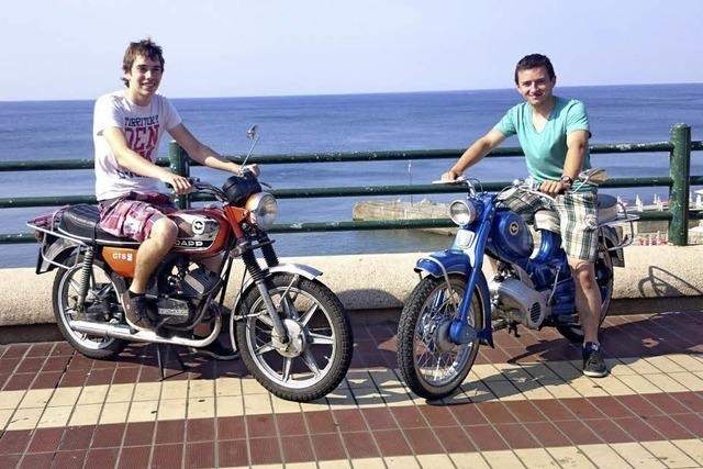 Mit dem Moped ans Meer