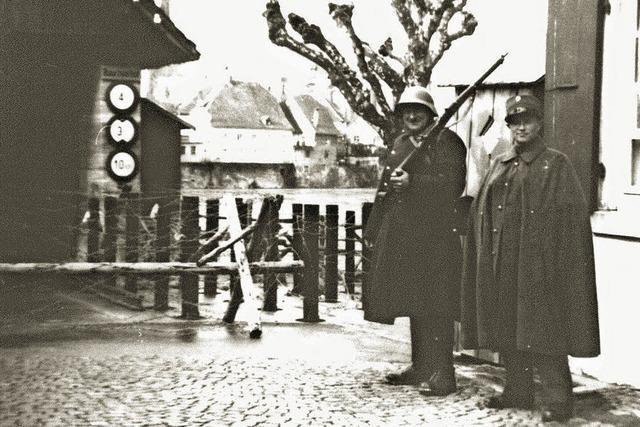 Beobachtungsposten an der Holzbrücke