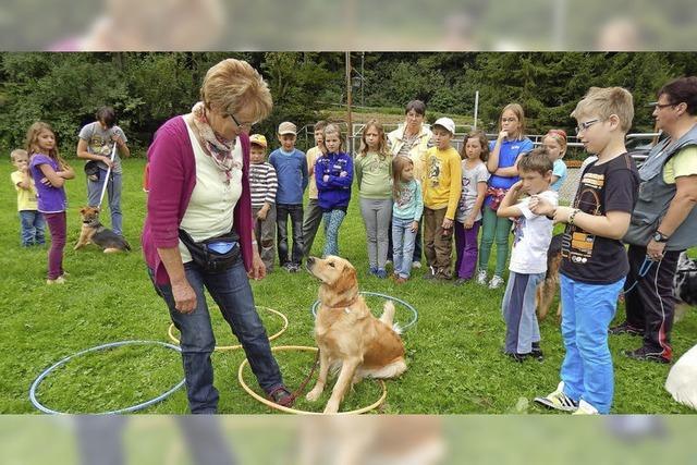 17 Kinder sind jetzt große Hundekenner