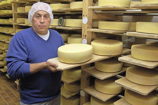 Käse von eigenen Kühen