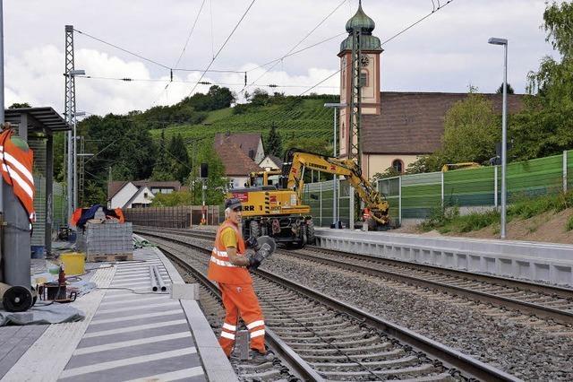 Arbeiten an Bahnhöfen sind im Zeitplan