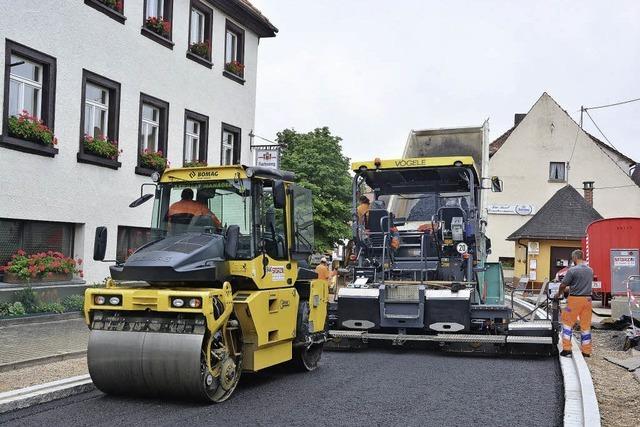 Endphase für Sanierung der Ortsdurchfahrt
