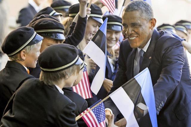 Obama sichert baltischen Ländern Schutz zu