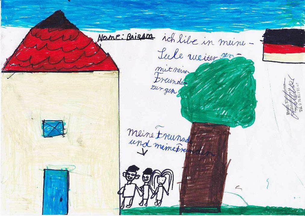 Bajram hat dieses Bild gemalt.  | Foto: ZVG