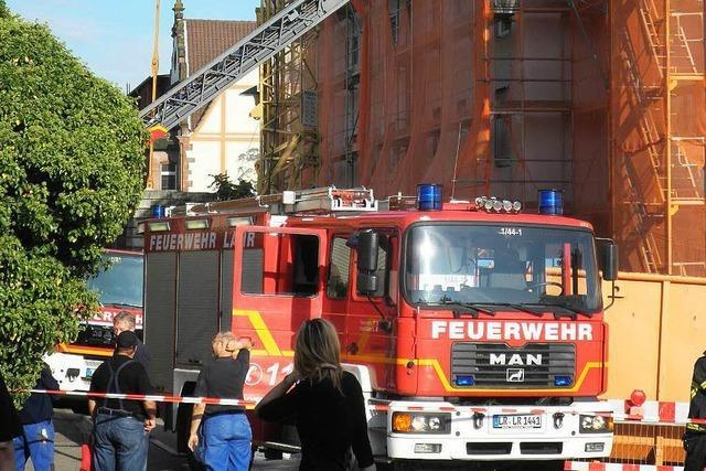 Fugenbrand an Neubau in Lahr