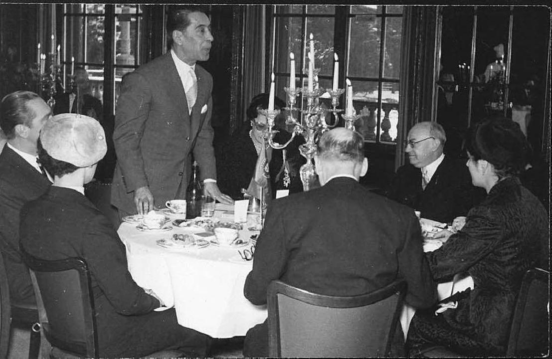 Leo Wohleb (Zweiter von rechts) beim E...sminister Portugals, Ulisses  Cortés.   | Foto: Privat