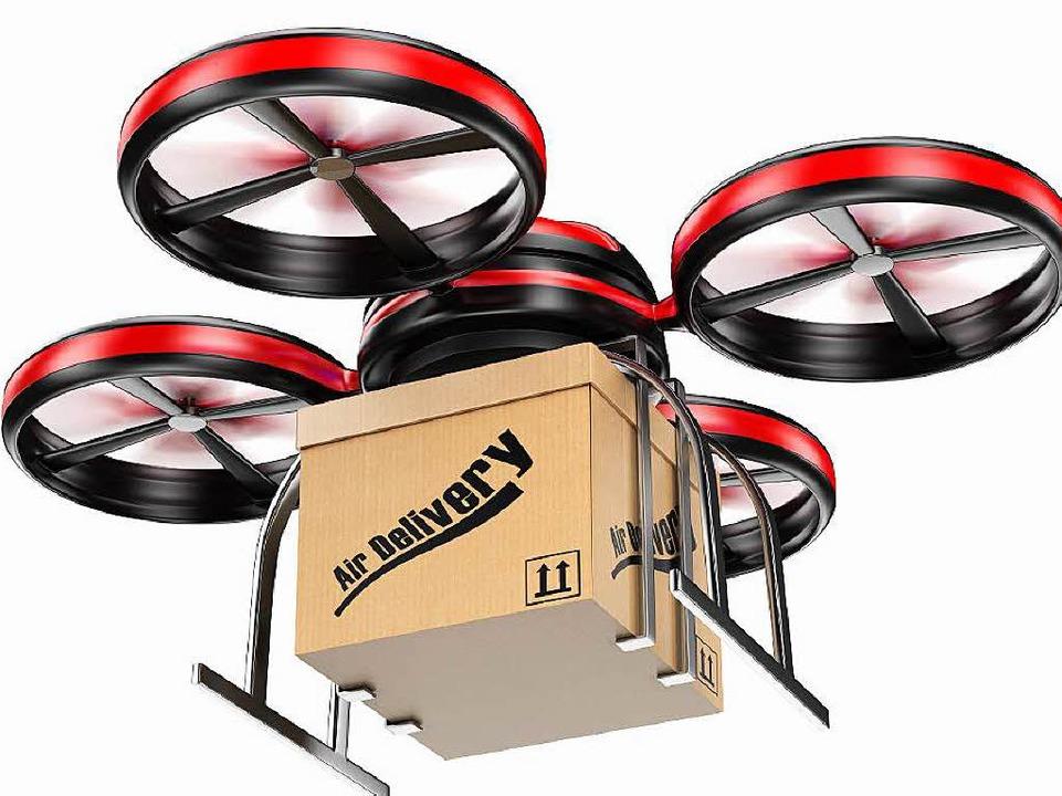 Der Einkauf per Drohne wird  vorerst keine Rolle spielen.  | Foto: Colourbox