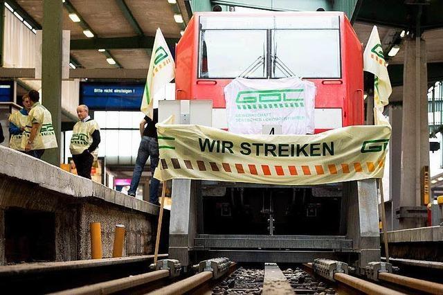 Dreistündiger Streik der Lokführer behindert Bahnverkehr