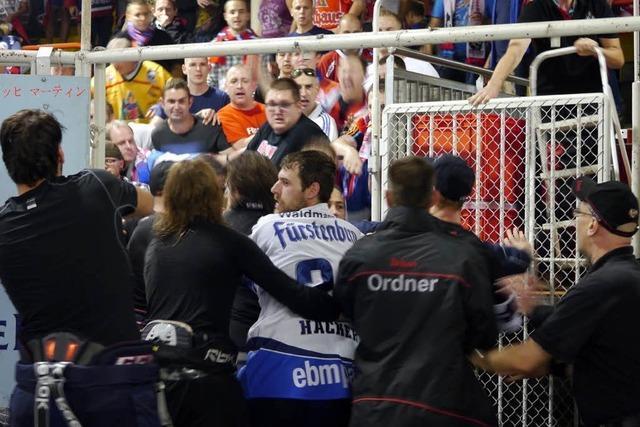 Massenschlägerei nach Eishockey-Derby – Polizei setzt Pfefferspray ein
