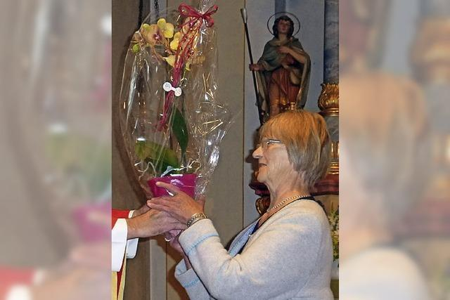 Helga Wider 25 Jahre Messnerin