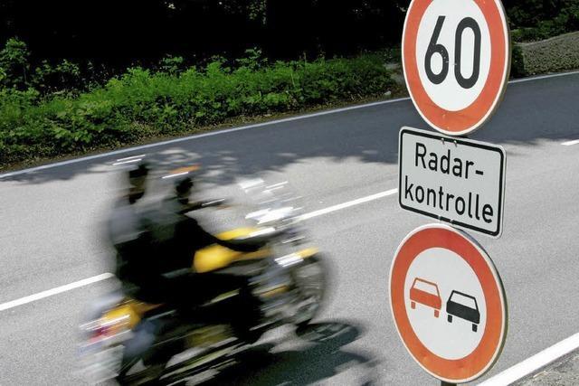 Mehr als 350 Fahrer waren zu schnell