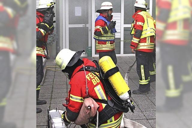 Feuerwehr probt Vermisstensuche