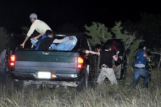 Patrouillenfahrt an der texanisch-mexikanischen Grenze