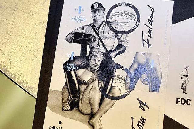 Finnische Post begeistert mit homoerotischen Briefmarken