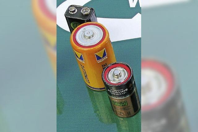 Batterien zerplatzten mit einem Knall