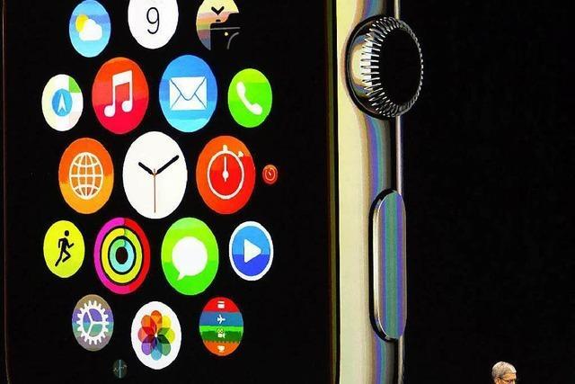 Apple stellt eine Smartwatch und größere iPhones vor