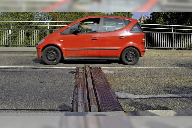 Zu Fuß oder per Rad über die Breisacher Rheinbrücke