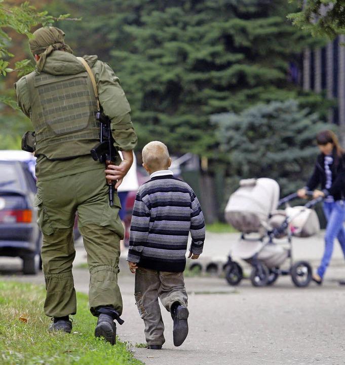 Alltag in der Ukraine? Normalität ist dort derzeit kaum möglich.   | Foto: AFP