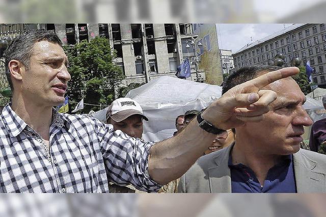 Bürgermeister Klitschko ist Hoffnungsträger für Kiew