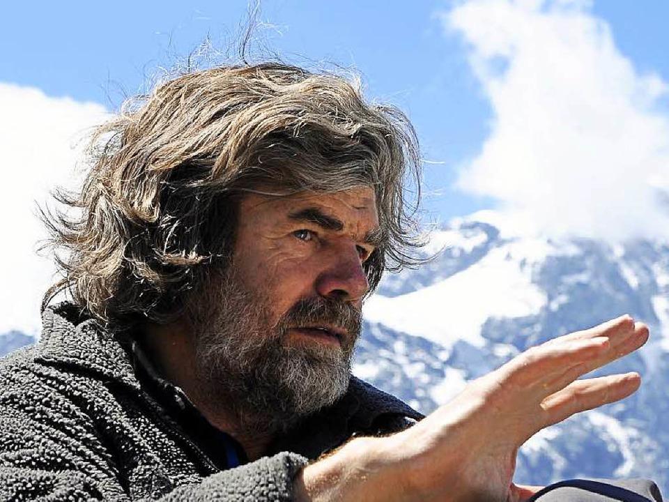 Reinhold Messner  hier vor dem Ortlermassiv in Südtirol   | Foto: dapd/dpa