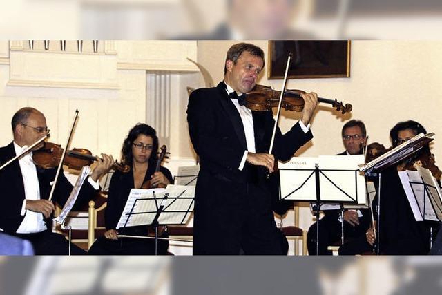 Ein Geigenvirtuose und ein hervorragendes Orchester