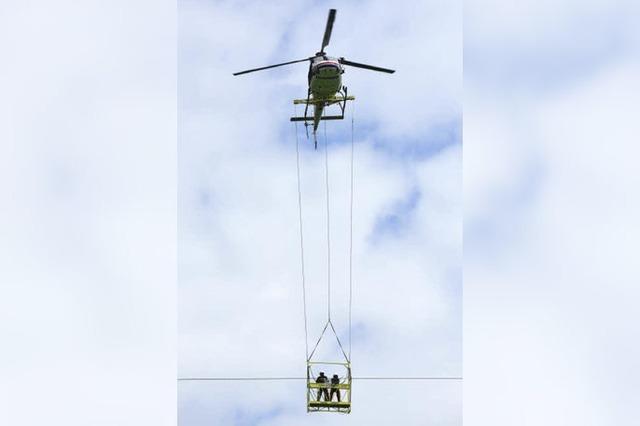 Vogelschutz mit dem Helikopter