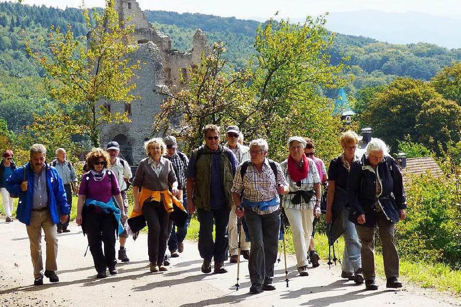 Bestes Wanderwetter, interessante Geschichten und schöne Aussichten gab es bei der BZ-Leserwanderung. (Foto: Aribert Rüssel)