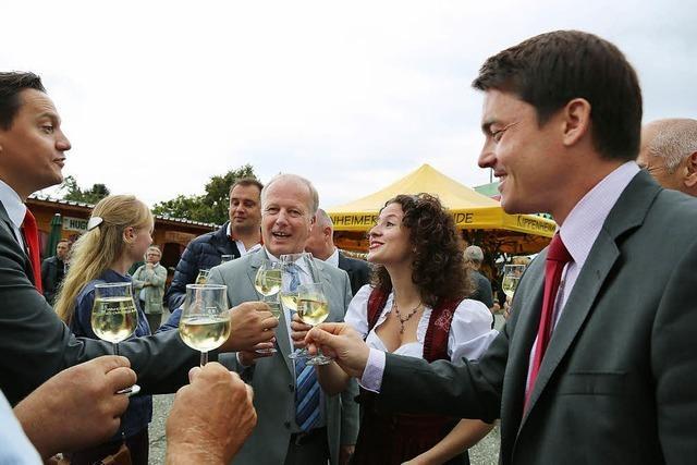 Nur zufriedene Gesichter beim Weinfest Kippenheim