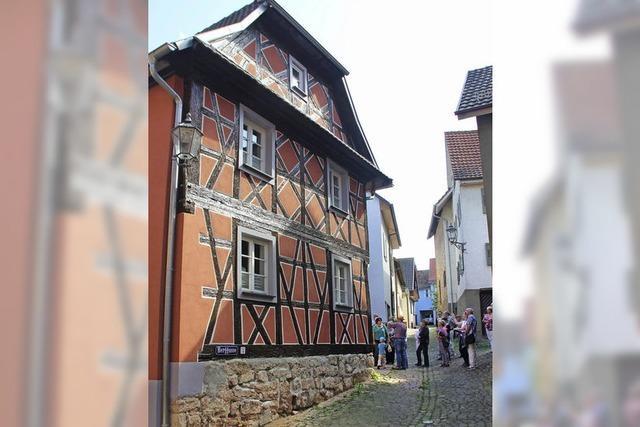 Pastellfarben dominieren im Stadtbild
