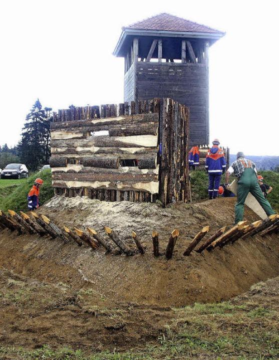 Geschärftes Schanzen-Profil: Der Bau e...te wurde am Wochenende abgeschlossen.   | Foto: H. Fabry
