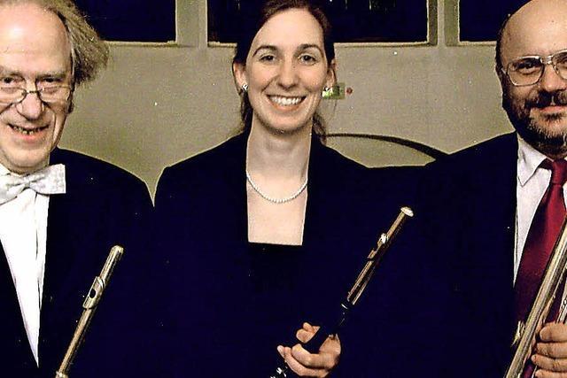 Kaufhaus-Serenade mit dem Sanssouci-Trio