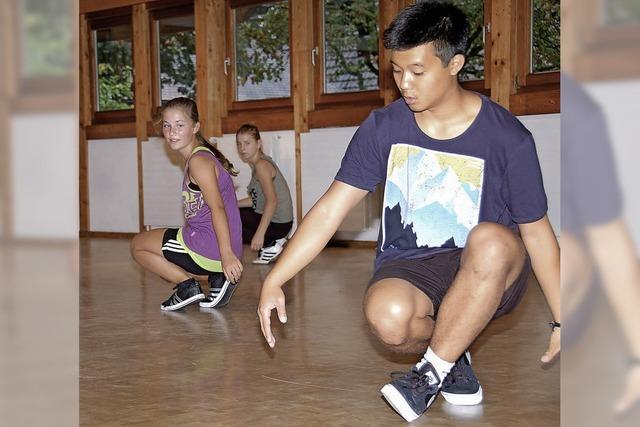 Beim Breakdance gibt's auch Beinsalat