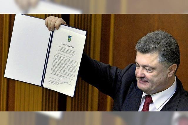 Die Ukraine und die EU nähern sich mit dem Assoziationsabkommen an