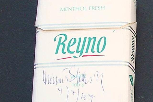 Helmut Schmidts Zigarettenschachtel liegt im Tabakmuseum Mahlberg