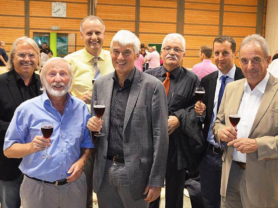 Auf die neue Schule (von links): Richa...red Voßler, Gerd Günther, Walter Meier  | Foto: Andrea Gallien