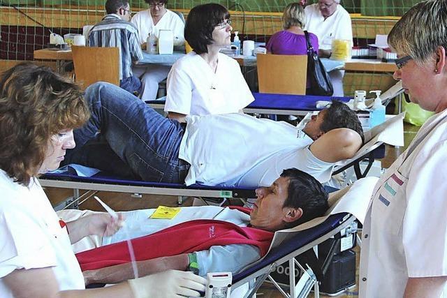 Hohe Bereitschaft zur Blutspende in Eichstetten