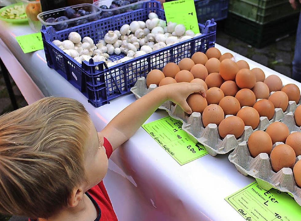 Zum Zugreifen verlockten frische  Eier.    Foto: Mario Schöneberg