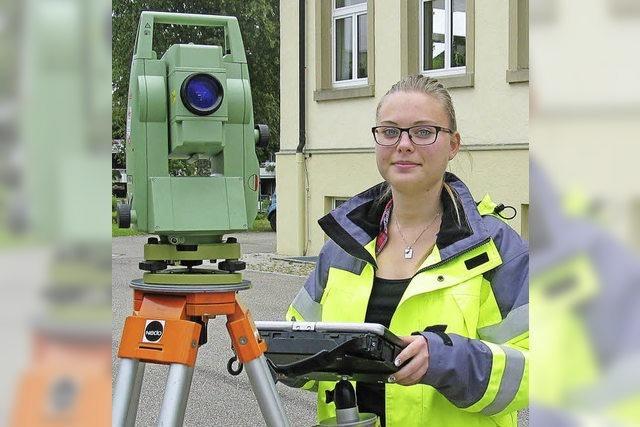 Ausbildungsberuf Vermessungstechnikerin: Bei Eileen Gentner muss Präzision sein