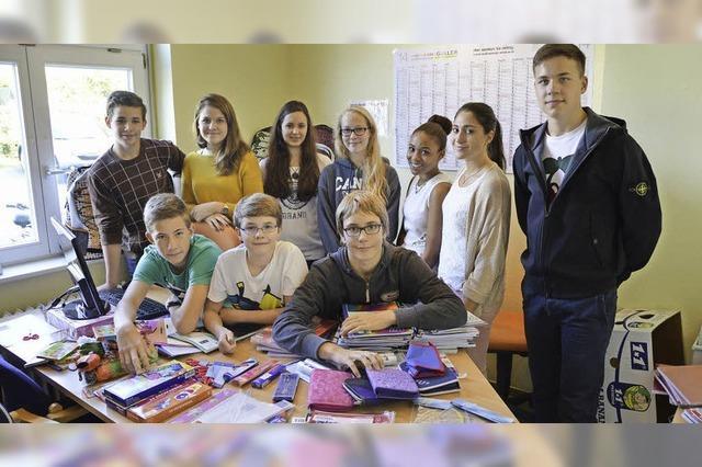 Schüler sammeln für Tafel