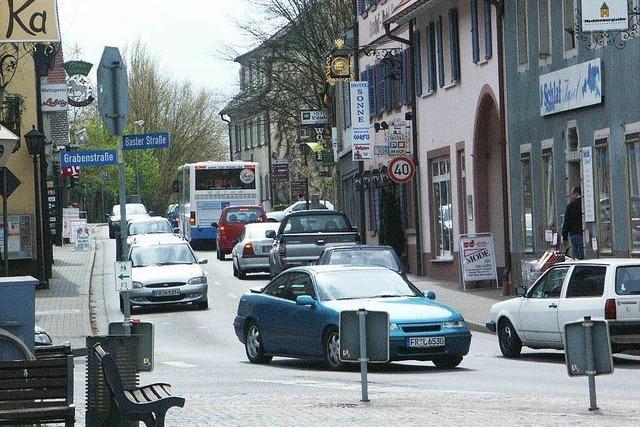 Kaum Durchgangsverkehr mehr in Bad Krozingen