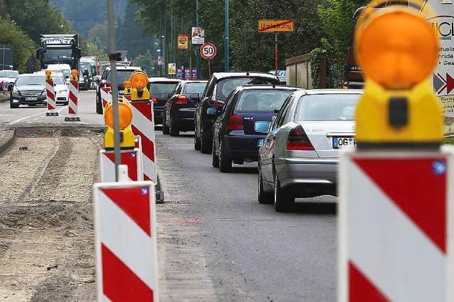 Baustelle führt zu Verkehrskollaps in Lahr