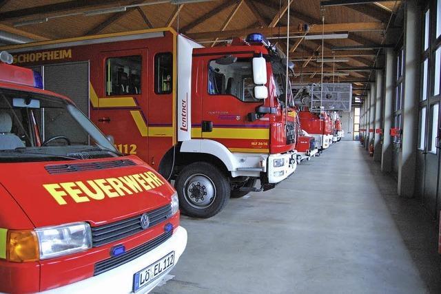 Brandschutzmobil und Rauchhaus