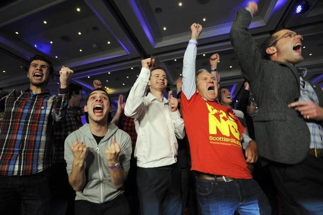 Schottland stimmt gegen die Unabhängigkeit
