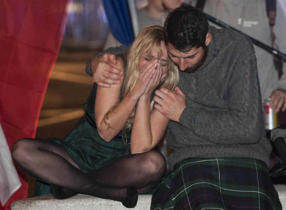 Begeistert nicht alle: Schottland bleibt Teil des Vereignigten Königreichs.  | Foto: AFP